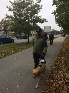Soome võistleja kõndimas